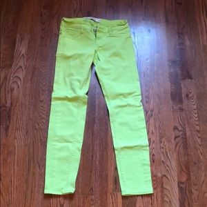 Neon green pants